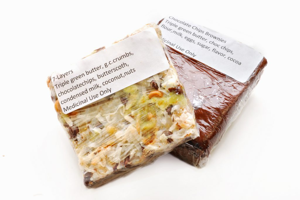 Medical Cannabis Brownie and 7-Layer Bar Edibles